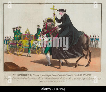 Mr. Speroni, nonce apostolique, porte-croix de Notre St. Pere Le Pape. Print shows a papal nuncio, Mr. Speroni, - Stock Photo