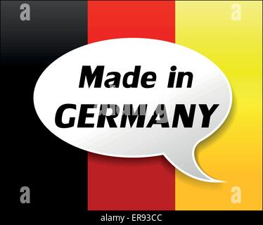 Vector illustration of made in germany icon on white background - Stock Photo