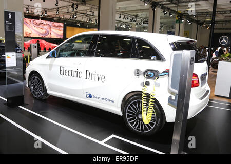 ISTANBUL, TURKEY - MAY 21, 2015: Mercedes Benz A Class Electric car in Istanbul Autoshow 2015 - Stock Photo
