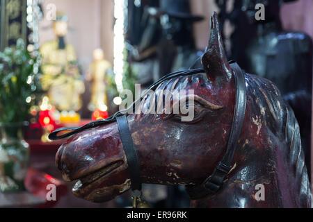 SAIGON, VIETNAM - JANUARY 27, 2014: Horse statue in Jade Pagoda - Stock Photo