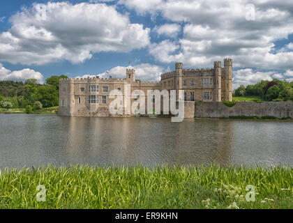 Leeds Castle in Kent, England UK - Stock Photo