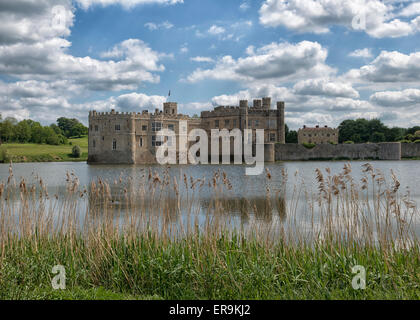 Leeds Castle in Kent, England UK - Stock Photo