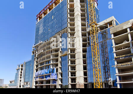 construction of multi-storey office building - Stock Photo