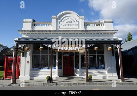Pharmacy, chemist shop in Buckingham Street, Arrowtown, Central Otago, South Island, New Zealand - Stock Photo