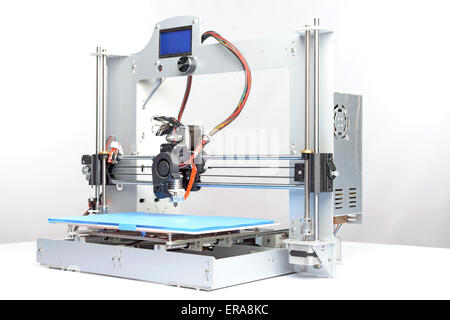 Picture of a three-dimensional printer - Stock Photo