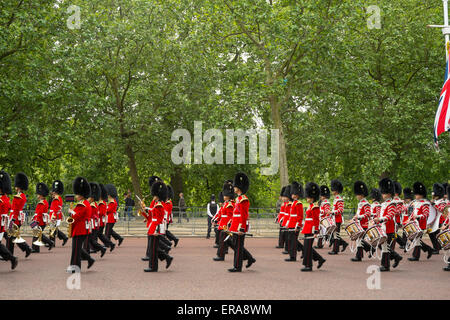 Central London, UK. 30th May, 2015. The Major Generals Review, the first official practice for Trooping the Colour - Stock Photo