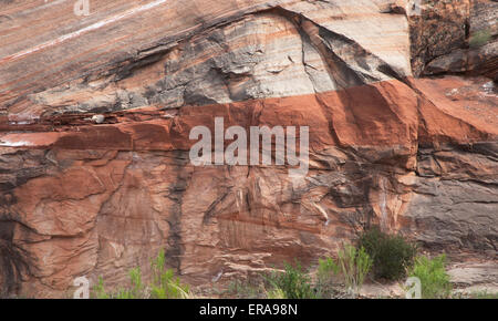 Sandstone Rock Layers in the Canyon Country of Southern Utah - Stock Photo