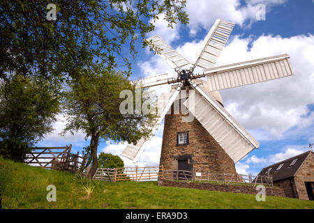 Heage, Derbyshire, UK. 30th May 2015.  A dry and sunny day at Heage windmill, a fully restored and working windmill - Stock Photo