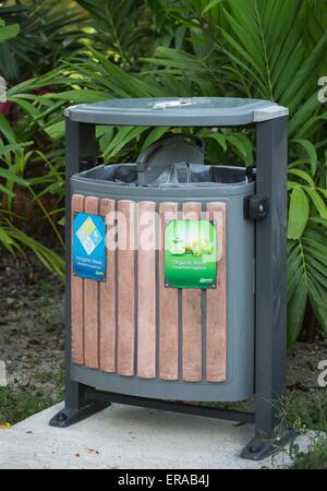 Bin for organic and inorganic waste - Stock Photo