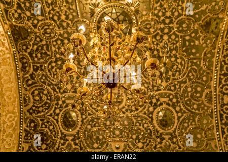 Old chandelier Golestan Palace - Stock Photo