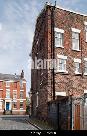 A picturesque corner between Regency terraces in Liverpool. - Stock Photo