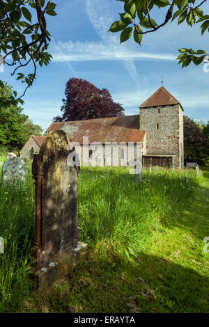 Spring afternoon at St Michael's church in South Malling, Lewes, East Sussex, England. - Stock Photo