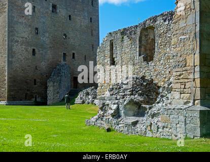 Spynie Palace, near Elgin, Moray, Scotland UK - Stock Photo