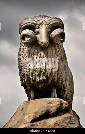 The Moffat ram statue, Moffat, Dumfries and Galloway, Scotland - Stock Photo