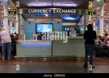 money exchange kiosk at an airport departure lounge stock photo royalty free image 71022042. Black Bedroom Furniture Sets. Home Design Ideas