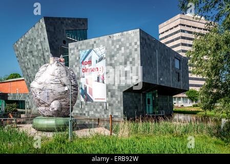 Exterior of Van Abbemuseum museum - Stock Photo
