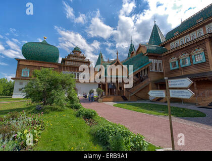 Great Wooden Palace at Kolomenskoye Park in Moscow, Russia - Stock Photo