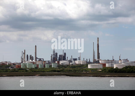Fawley Refinery near Southampton the largest refinery in the UK - Stock Photo