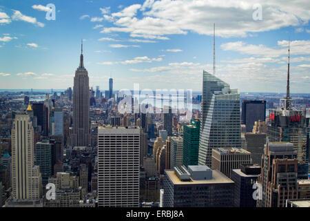Manhattan Skyline from Rockerfeller Center - Stock Photo