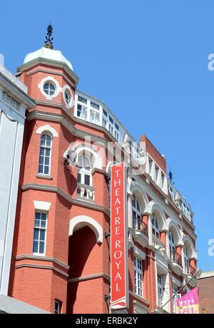 Exterior of the Theatre Royal Brighton Sussex - Stock Photo