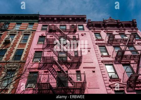 New York, NY 23 February 2014 - Apartment buildings in the Soho neighborhood of Manhattan - Stock Photo