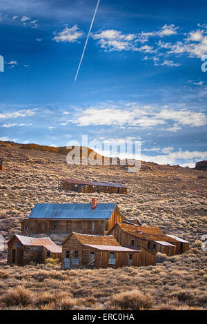 A HDR photograph of a building in Bodie, California. - Stock Photo