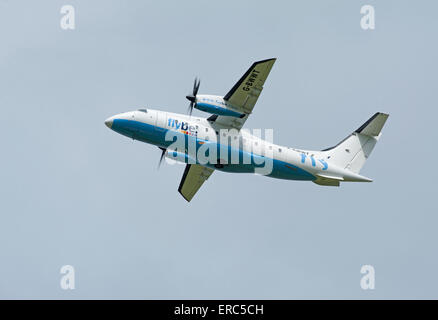Dornier 328-100 34 seater short haul FlyBe airliner working from Inverness airport.  SCO 9820. - Stock Photo