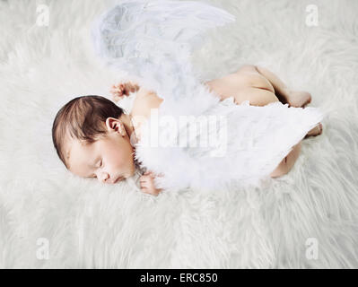 Cute little angel during a short nap - Stock Photo
