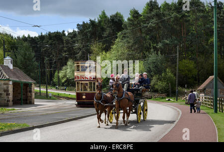 Vintage Transport in Beamish Open Air Museum - Stock Photo