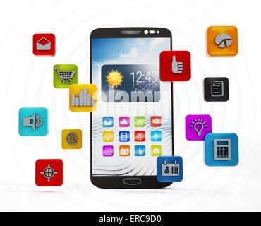 Smartphone applications - Stock Photo