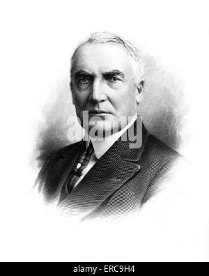 PORTRAIT WARREN G. HARDING 1865-1923 29th AMERICAN PRESIDENT SENATOR NEWSPAPER EDITOR REPUBLICAN ORATOR CORRUPT - Stock Photo