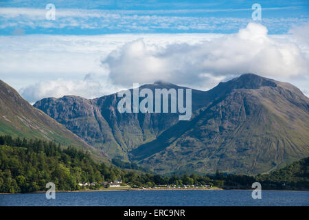Looking Across Loch Leven to Caolasnacon, Glencoe, Scottish Highlands. - Stock Photo