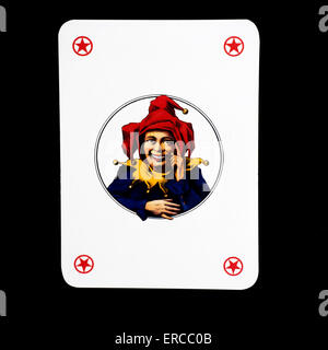 Joker playing cards on black background - Stock Photo