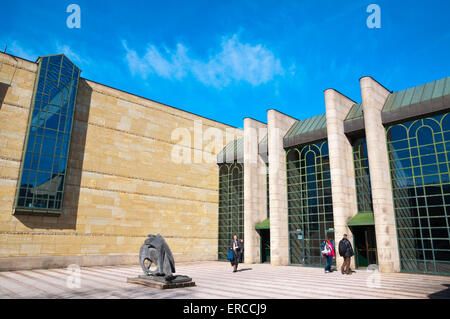 Neue Pinakothek, museum of 19th century art, Maxvorstadt, Munich, Bavaria, Germany - Stock Photo