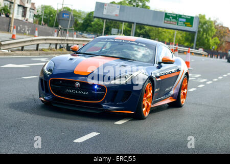 Coventry, West Midlands, UK, 31st May, 2015. The Jaguar F-TYPE R AWD Bloodhound SSC Rapid Response Vehicle. The - Stock Photo