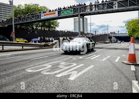 Coventry, West Midlands, UK, 31st May, 2015. The Rover BRM gas turbine LeMans car which returned to Coventry after - Stock Photo