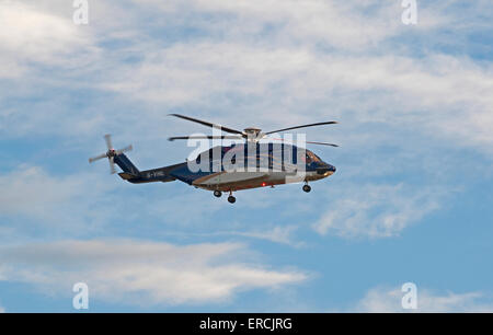 Bond Helibus North Sea Oil Offshore helicopter Aberdeen Scotland.  SCO 9836. - Stock Photo