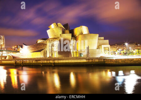 Guggenheim Museum by Frank Gehry - Stock Photo