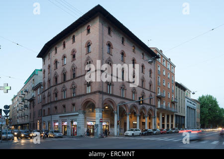 Casa Editrice Zanichelli. Fascist architecture in Bologna Italy. - Stock Photo