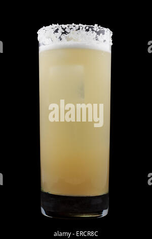Salty Dog is a drink that contains gin or vodka and grapefruit juice in a salt-rimmed glass - Stock Photo