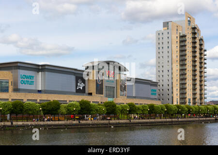 The Lowry Outlet SHopping Centre in Salford Quays, Manchester. - Stock Photo