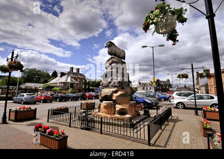 The Moffat Ram in Moffat town Centre, Dumfries and Galloway, Scotland - Stock Photo