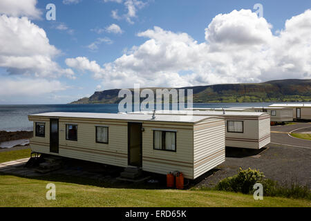 mobile static caravans on caravan holiday park Cushendall County Antrim Northern Ireland UK - Stock Photo