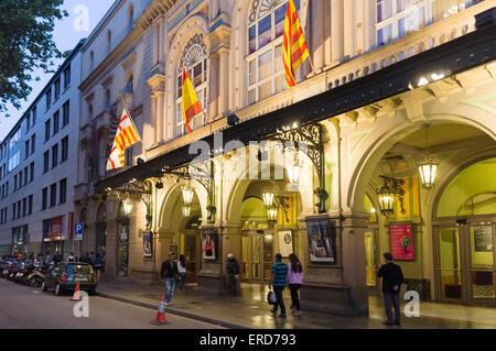The Liceu opera house in Las Ramblas, Barcelona, Catalonia, Spain - Stock Photo