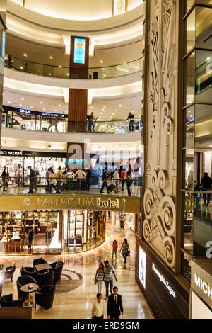 Mumbai India Asian Lower Parel High Street Phoenix mall inside interior Palladium shopping - Stock Photo