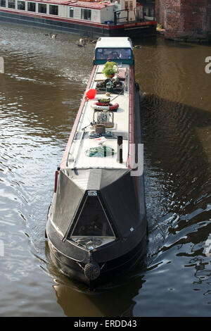 Barge on the Bridgewater Canal, Manchester. - Stock Photo