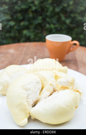 Delicious fresh ripe thai durian, stock photo - Stock Photo