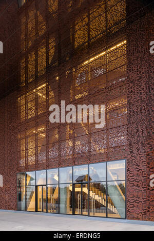 detail of perforated steel facade cricoteka museum of. Black Bedroom Furniture Sets. Home Design Ideas