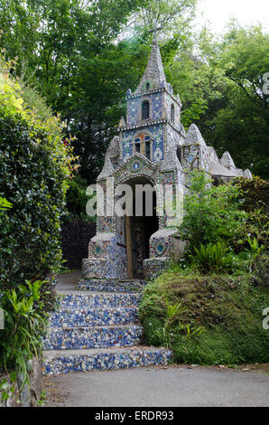 The Little Chapel, Guernsey.A work of art and a labour of love, the Little Chapel is possibly the smallest chapel - Stock Photo
