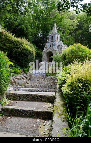The little Chapel Guernsey Channel Islands - the smallest chapel in the world - Stock Photo